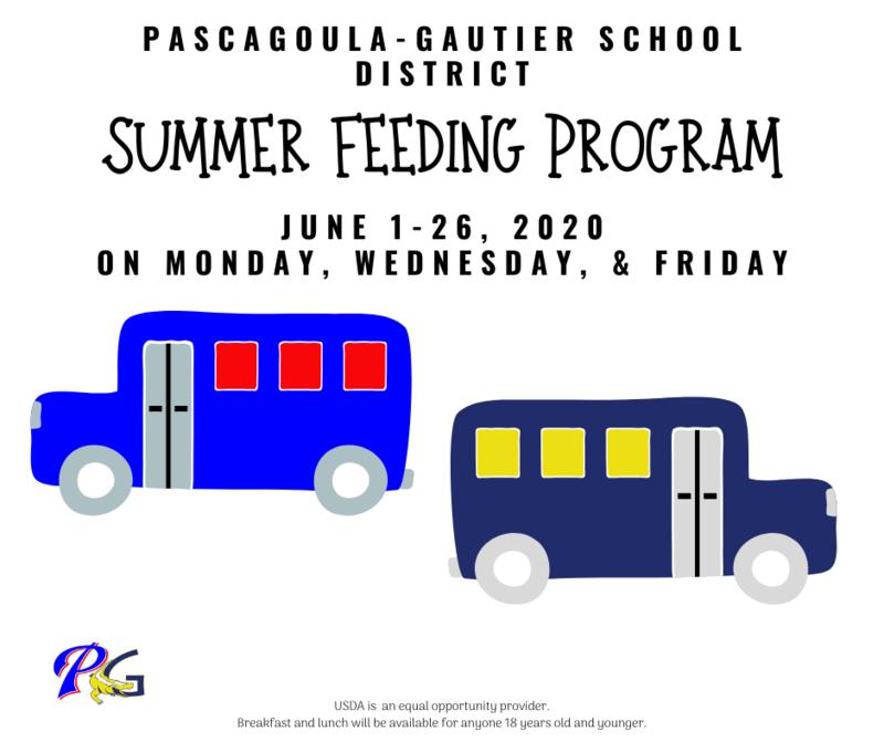PGSD Summer Feeding Schedule