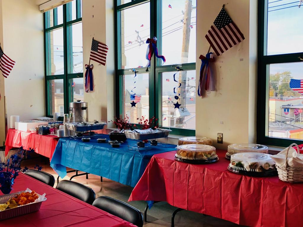 lovely display of the food for todays honoree's