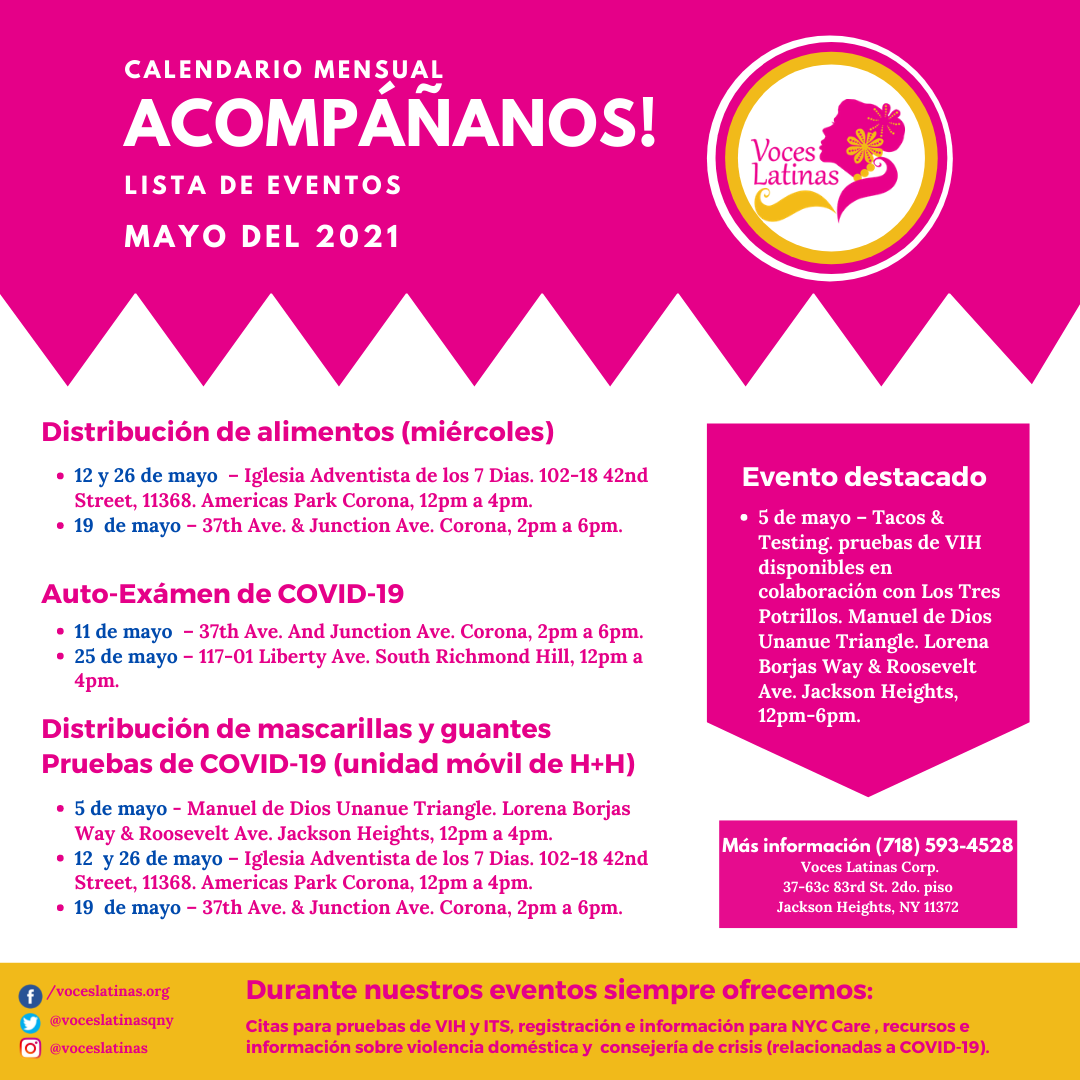 Events In Spanish Flyer