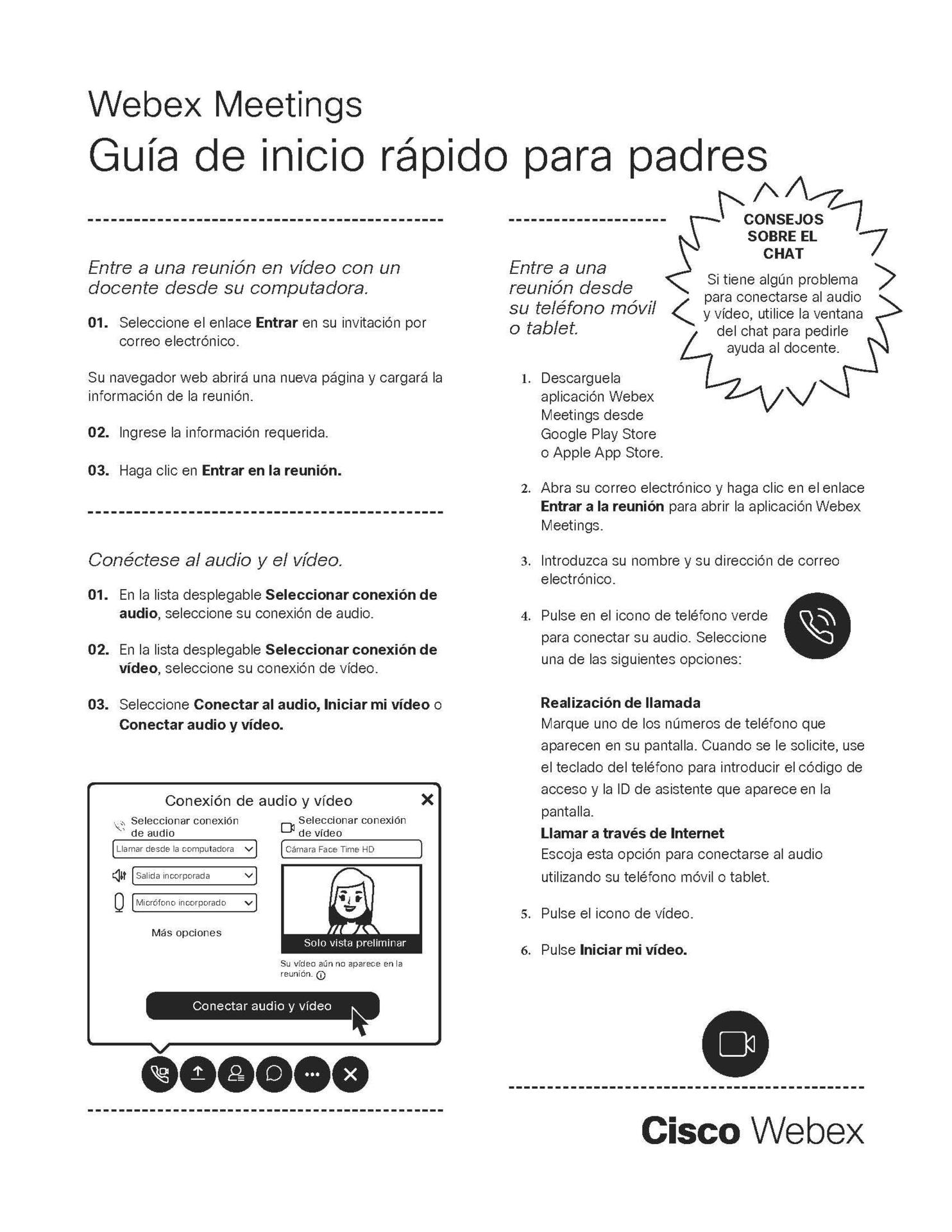 Webex Parents Espanol