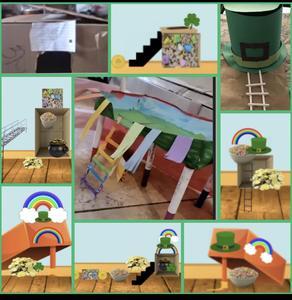 Leprechaun trap projects collage
