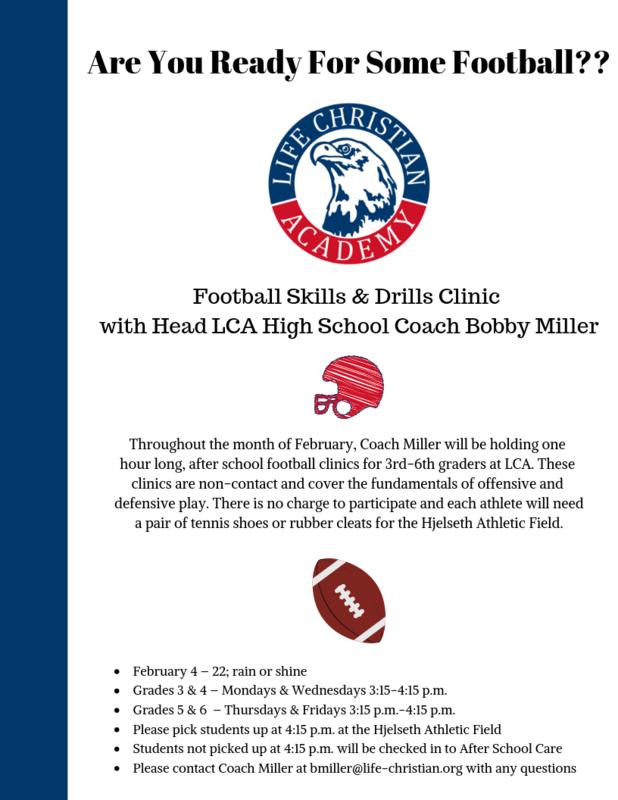 LCA Football Skills & Drills Clinic Featured Photo