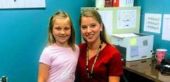Nurse with student