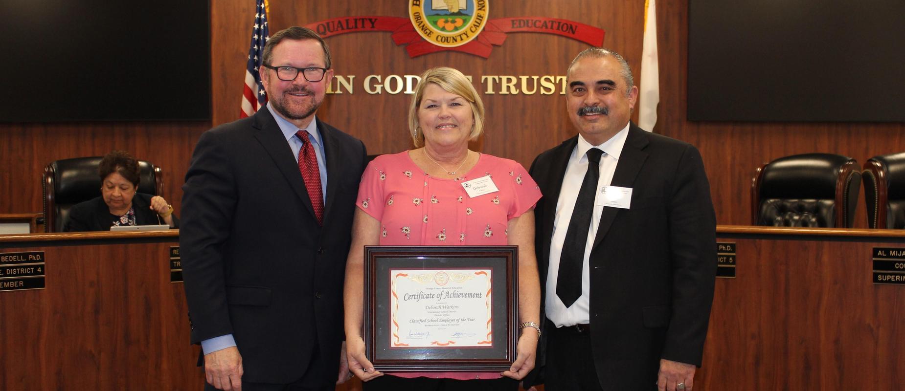 Deborah Watkins - Classified School Employee of the Year