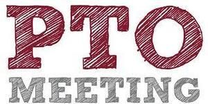 the word PTo meeting IN GREY & Burgundy letters