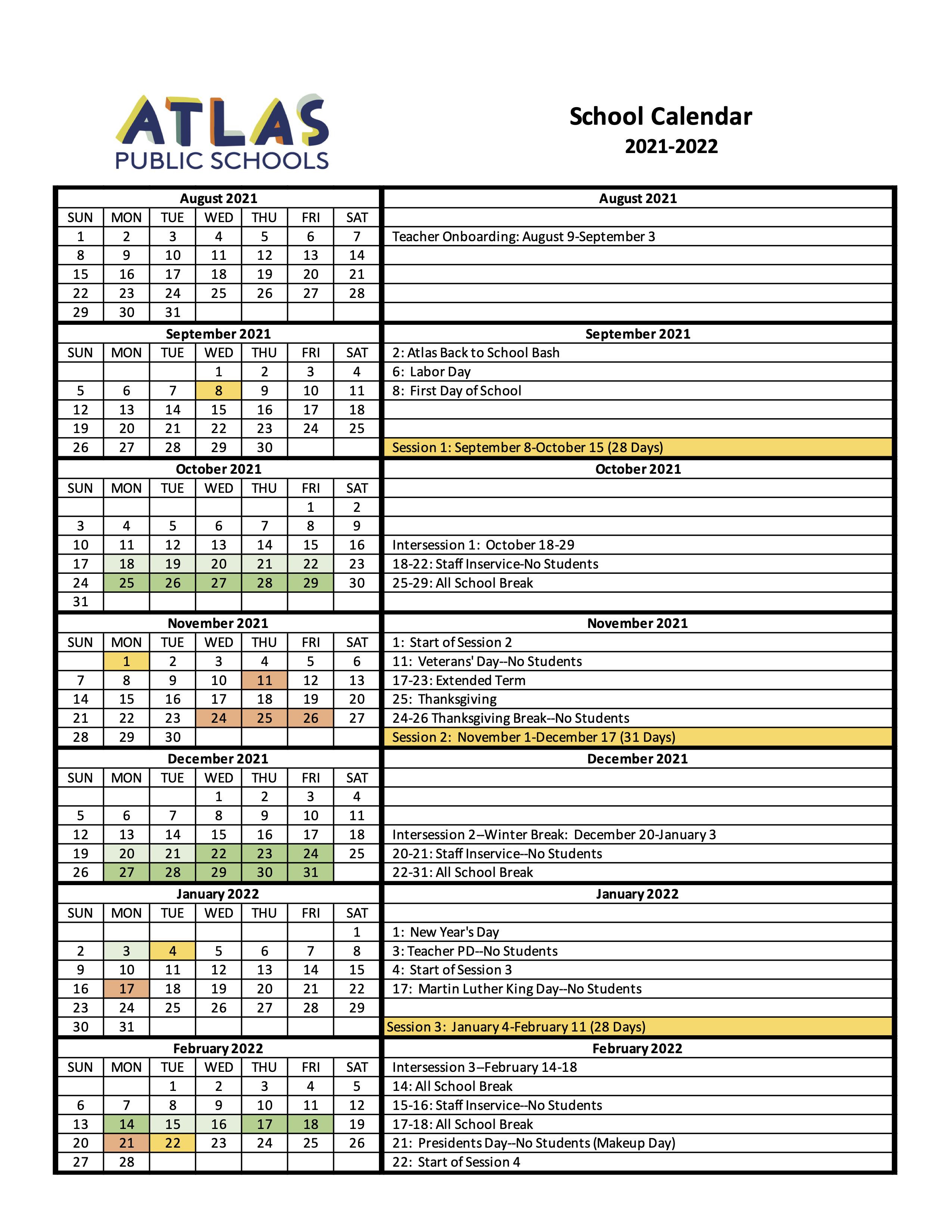 Calendar pg 1