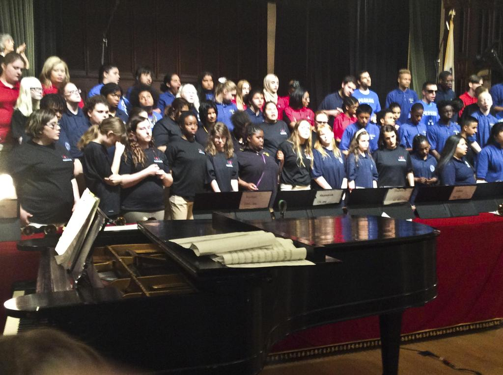 Another view of the united choruses from the front row