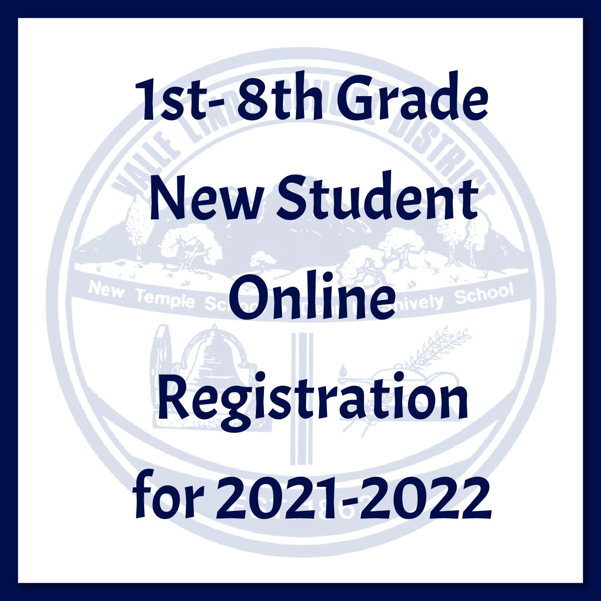 1st - 8th Grade Registration