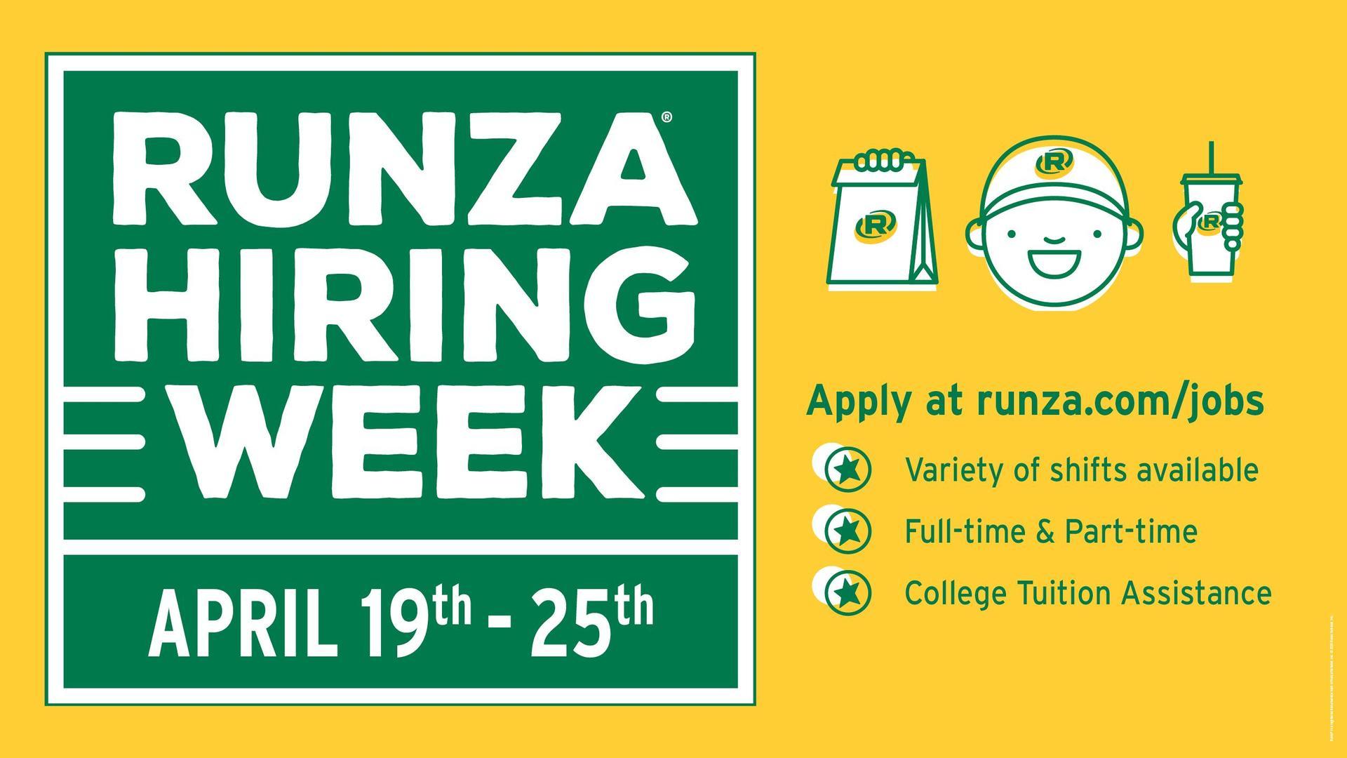 RUNZA Hiring Week