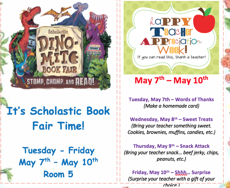 Book Fair and Teacher Appreciation