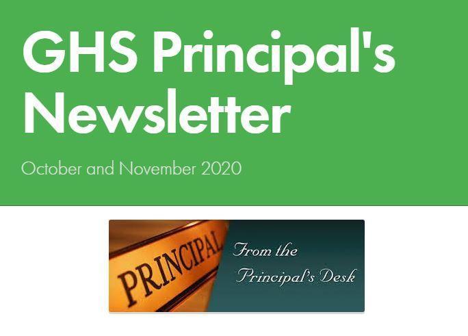 October/Nov Newsletter