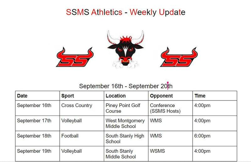 SSMS Athletics for the Week of 9/16-9/20 Featured Photo