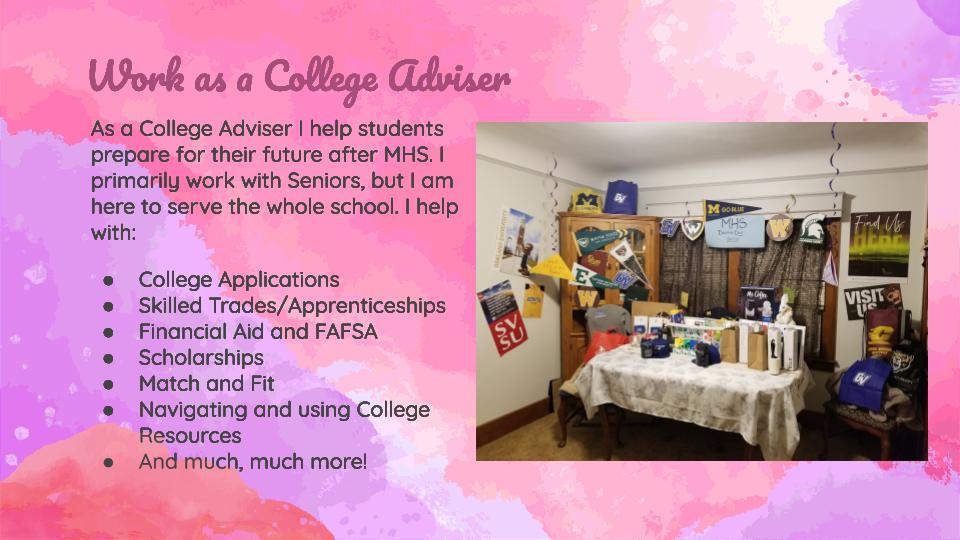 Work as a College Adviser