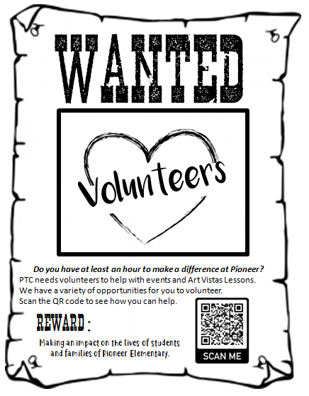 wanted volunteers