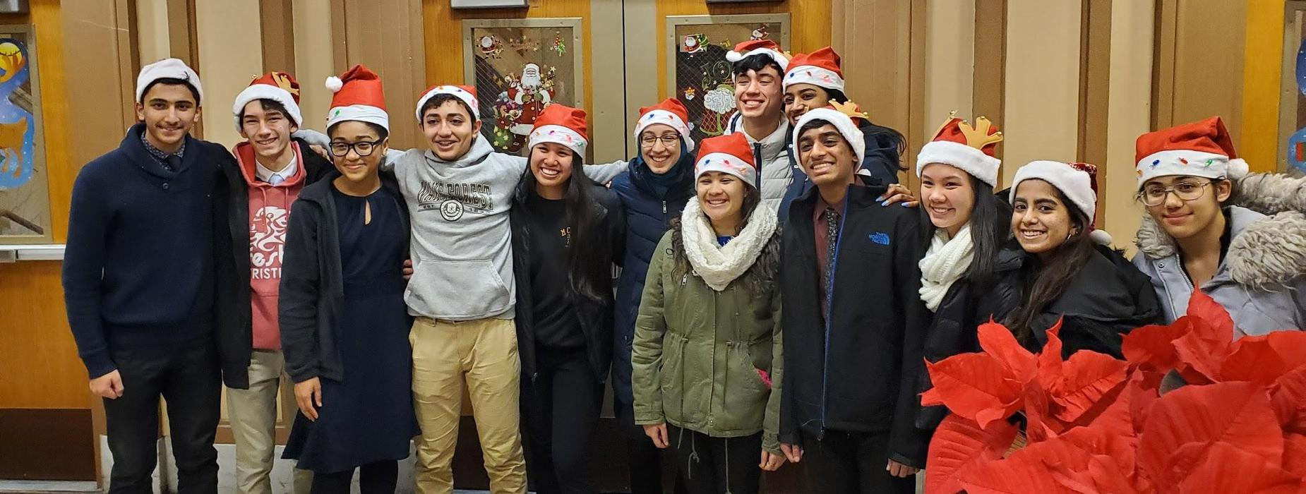 Students in Holiday Spirit