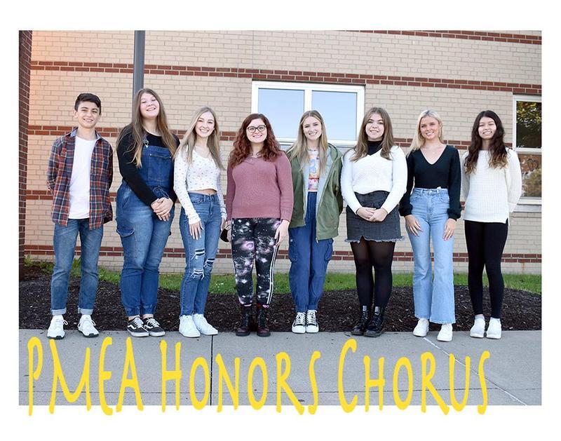 Mars Area High School chorus members Wyatt Gamble, Victoria Rojas, Miranda Gehm, Kyleigh Gianfrancesco, Meghan McKenzie, Katherine Ball, Madison Lee and Isabela Montes were selected to perform at the PMEA District 5 Honors Chorus Festival.