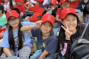 Magnolia Students enjoying the Baseball Game