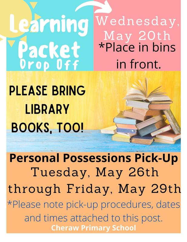 Learning Packet Drop Off & Personal Possessions Pick Up Featured Photo