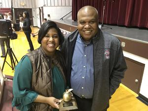 Mrs. Gwen Rockette with LCSD Assistant Superintendent Ed Mosley