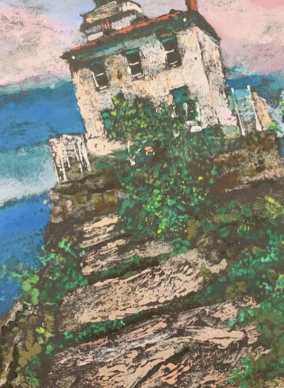 Student artwork of lighthouse
