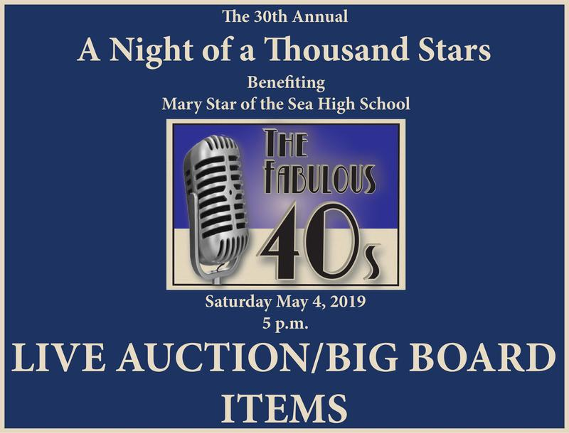 1000 Stars Live Auction/Big Board Items Featured Photo