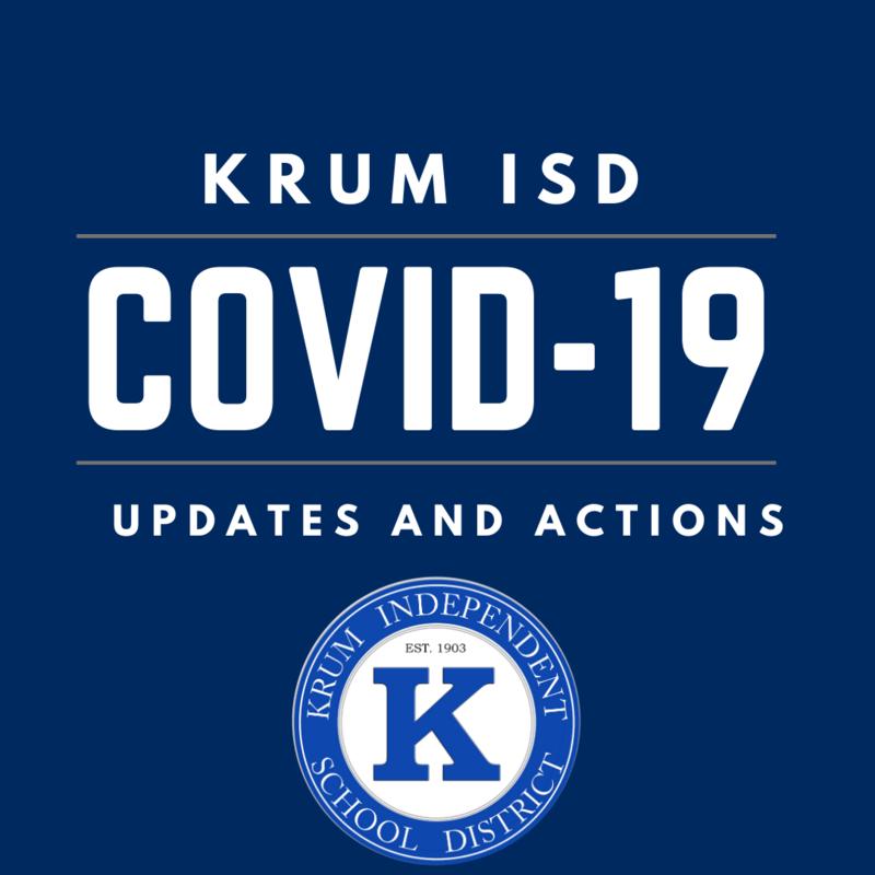 Krum ISD's Response and Action Pertaining to the Coronavirus (COVID-19) Featured Photo