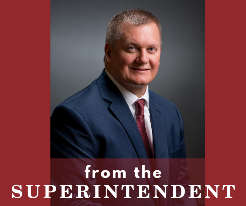 superintendent and text from the superintendent