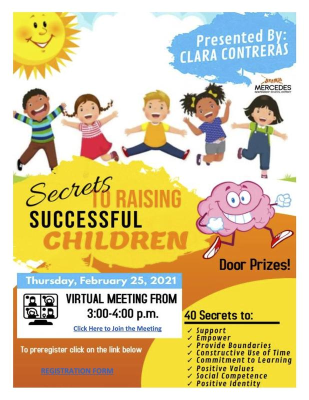Virtual Parent Meeting Thursday, February 25 | Secrets to Raising Successful Children Featured Photo