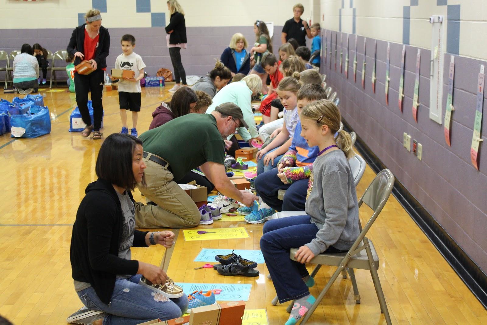 Preble County shoe donation event