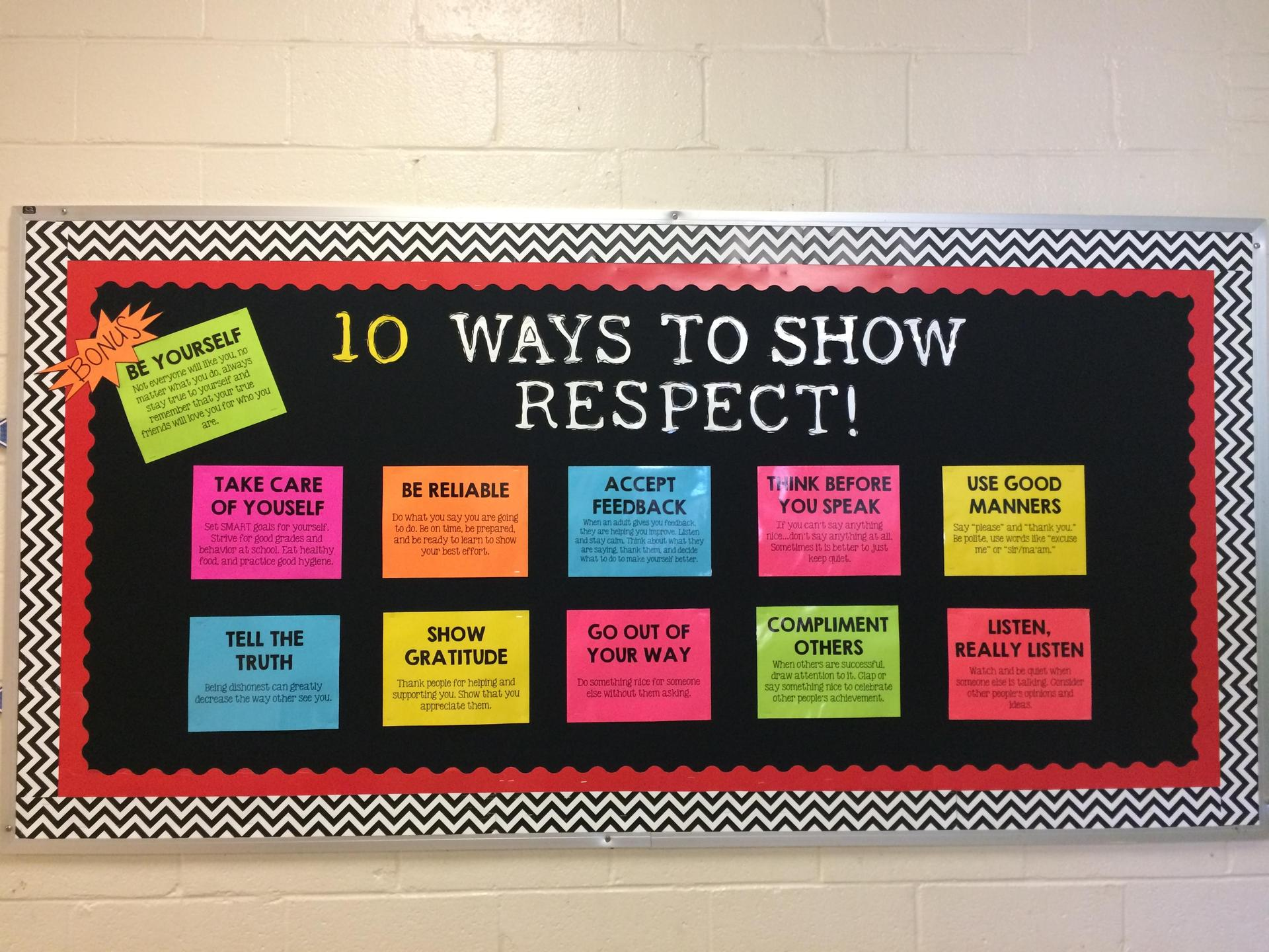 Respect Bulliten Board
