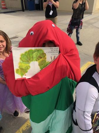 Student in The Very Hungry Caterpillar costume
