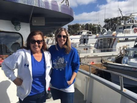 Mrs. Robilotta and Mrs. Grant on boat