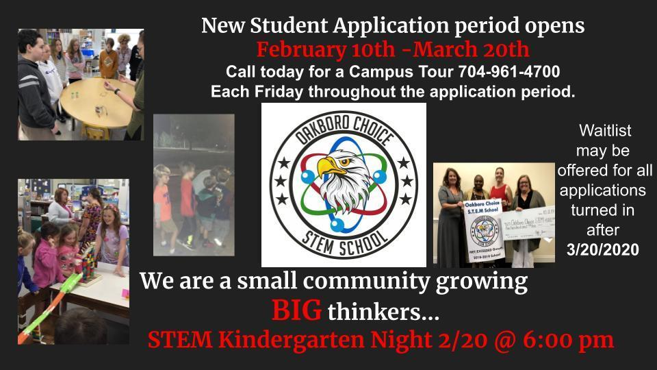 Application Window Open Now through March 20, 2020 Image