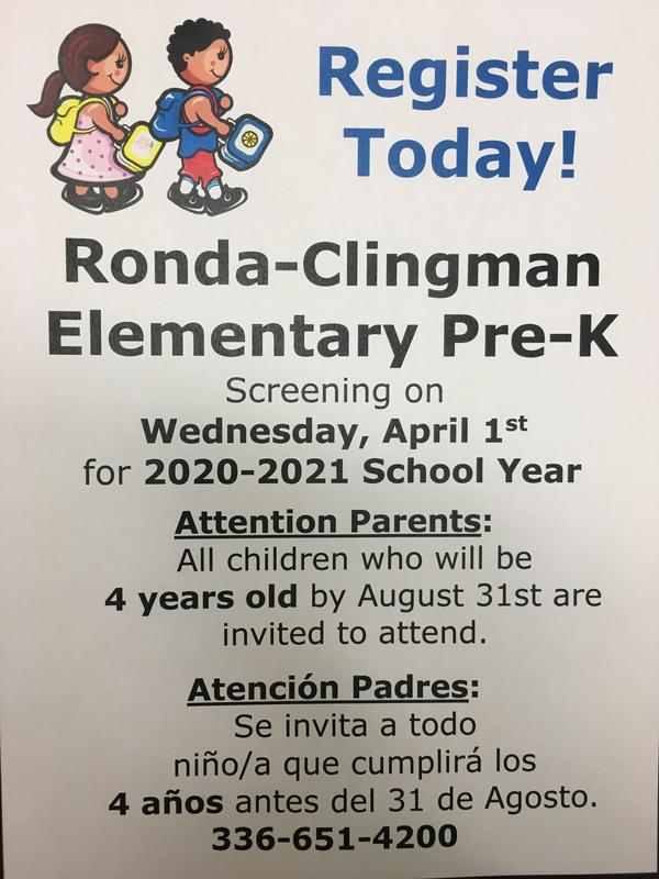 Poster about Pre-K Screening