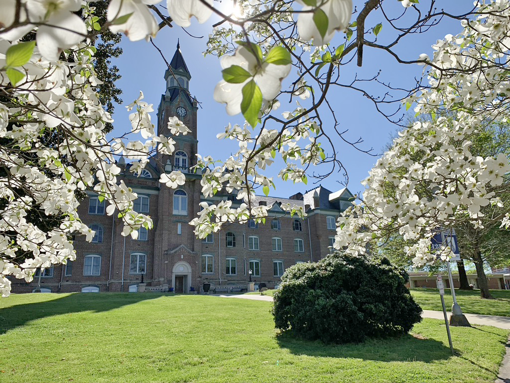 Main Building with Dogwoods