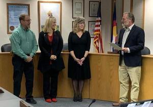 New Board Members Sworn in by outgoing President Larry Oddo