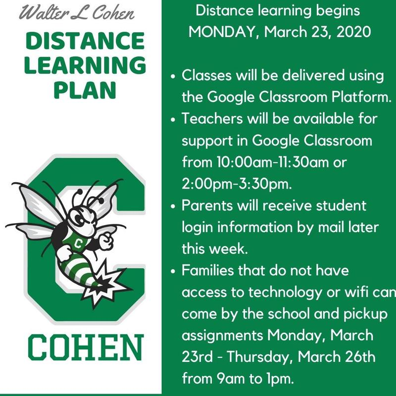 Distance Learning Instructions