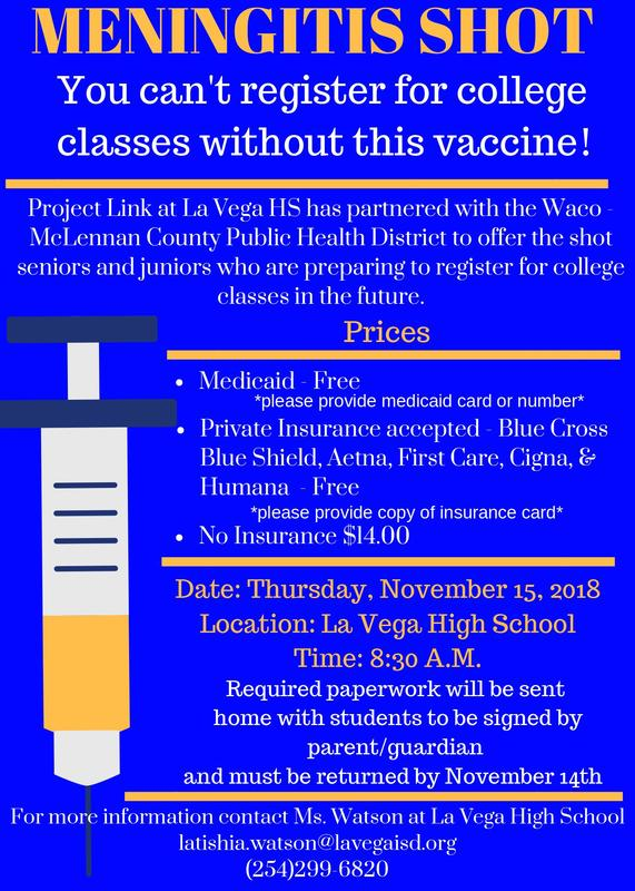 Meningitis Shot Available at LVHS Thumbnail Image