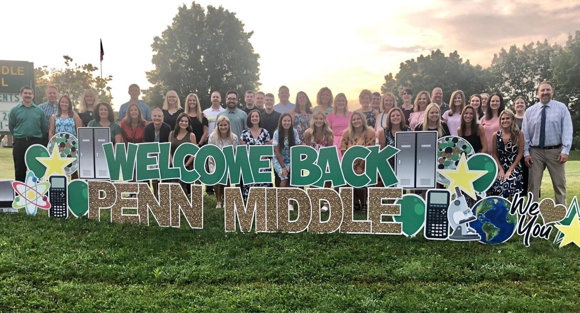 Penn Middle Staff is excited to welcome back our students.