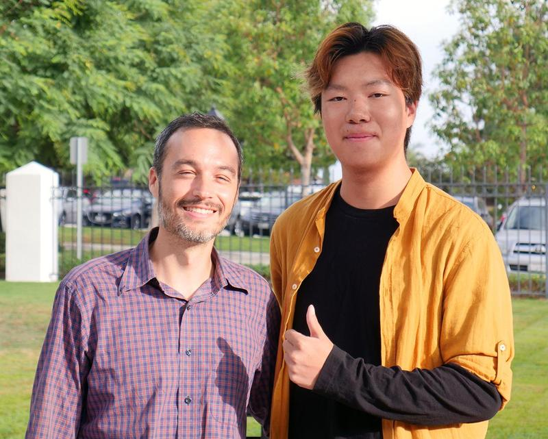 Hans Lin and Dr. Taurozzi