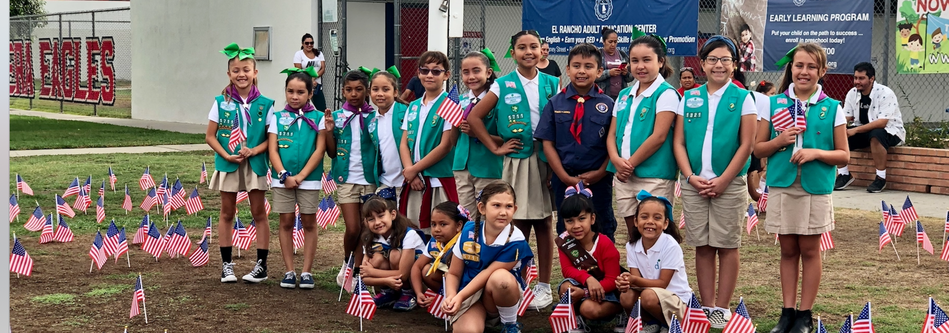 Our Boys & Girl Scouts helped us host our 9/11 Tribute