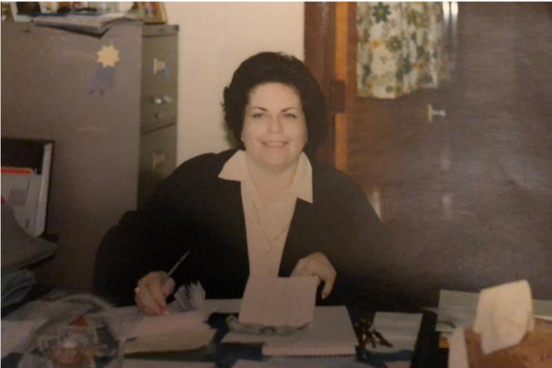Jo Howard at her desk