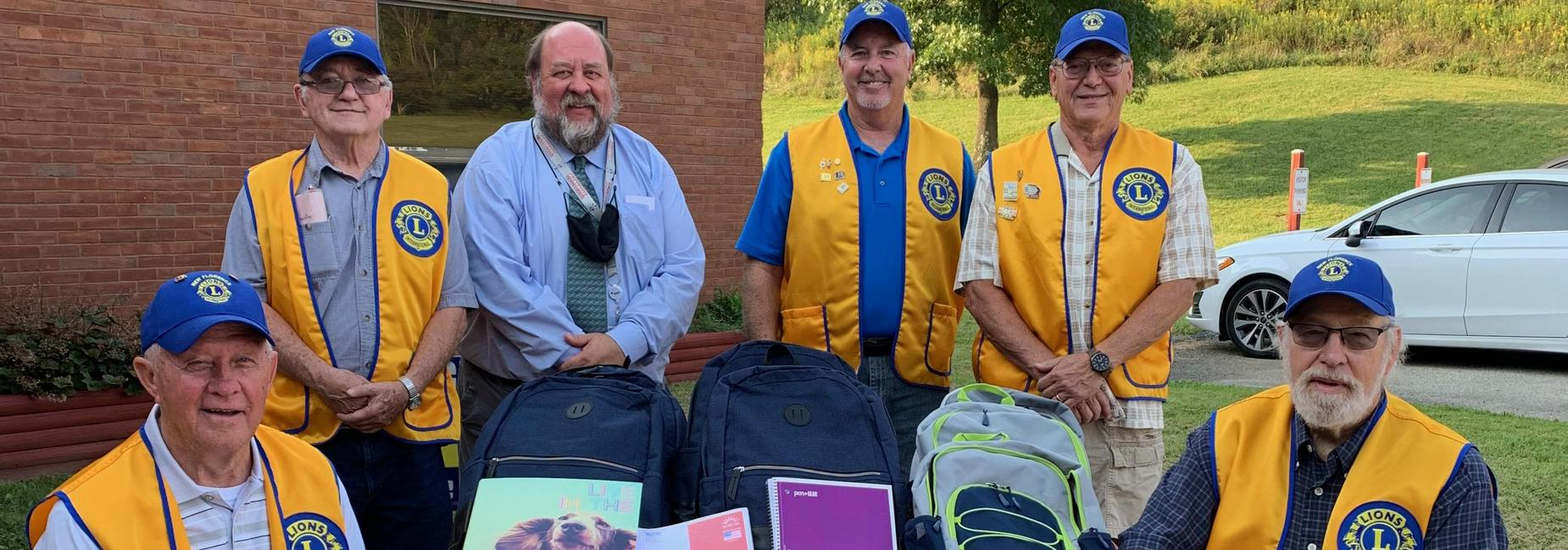 New Florence Lions Club Backpack Donation