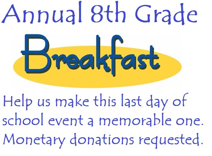 Annual 8th Grade Breakfast Featured Photo