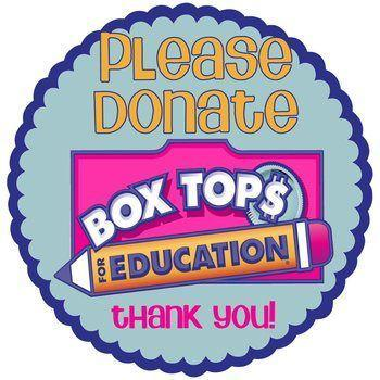 Please donate. Box tops for education. Thank you.