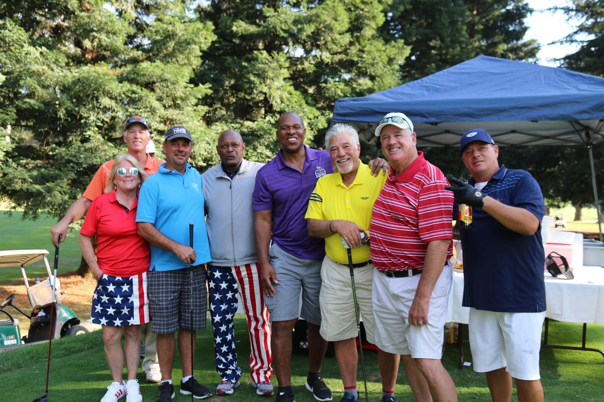 Michelle & golfers