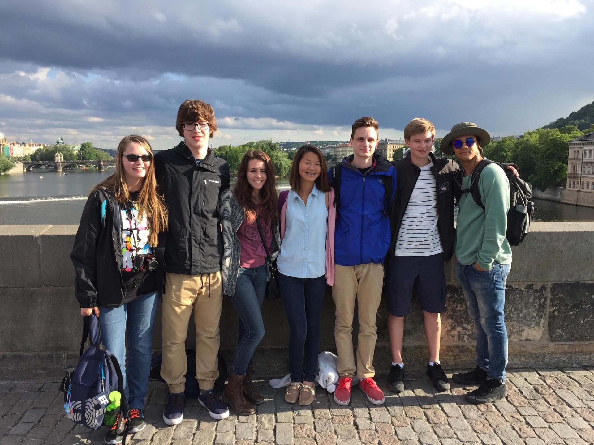 Student traveling internationally