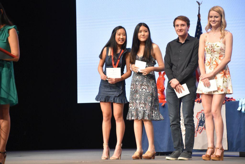 Senior Awards winners and presenters