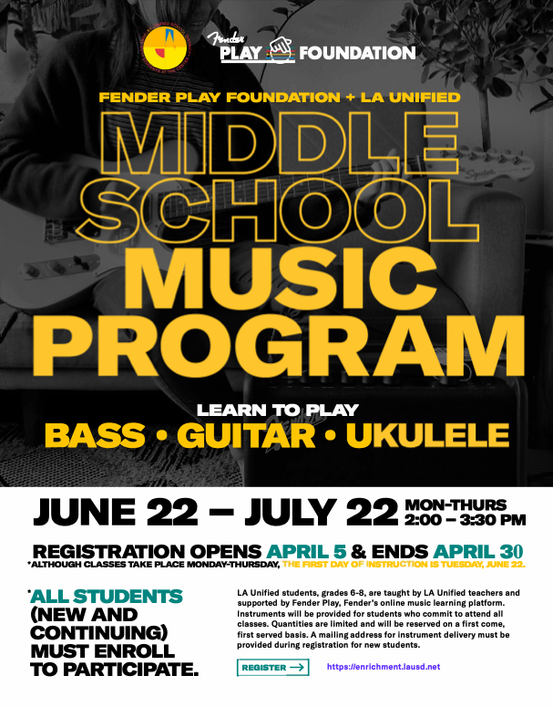 Middle School Music Program Featured Photo
