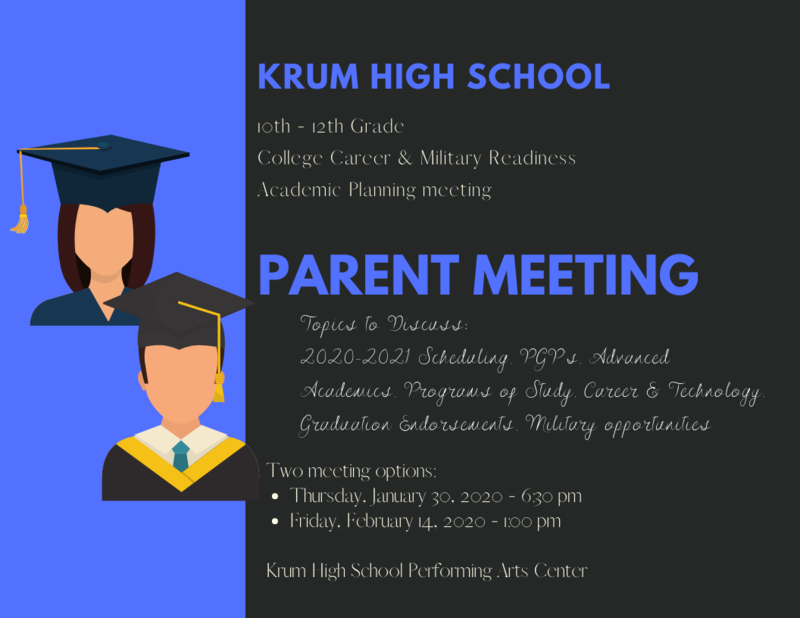 Academic Planning Parent Meetings Featured Photo